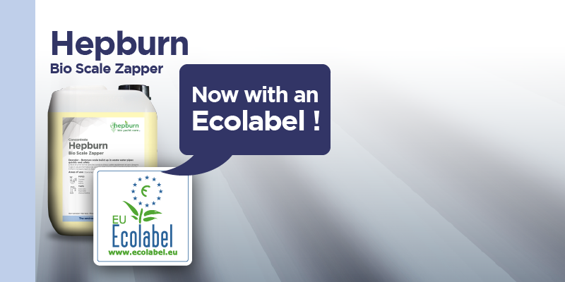 Hepburn's Bio Scale Zapper  now with an Ecolabel !