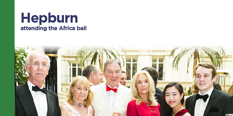 Hepburn Bio Care attending the Africa ball